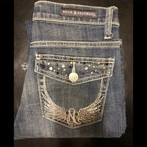 Rock & republic kasandra jeans 8 rhinestones